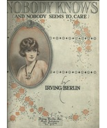 1919  Nobody Knows and nobody seems to care Irving Berlin Antique sheet ... - $9.95