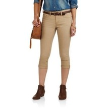 Faded Glory Women's Belted Denim Capri's Urban Khaki Size 18 New - $19.79