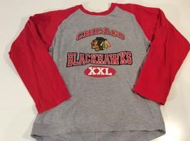 NHL Chicago Blackhawks Size Youth Large 12-14 Baseball Style 3/4 Sleeve T-shirt - $7.77