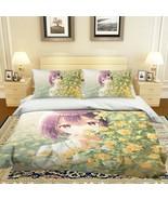 3D Short Hair Cute Girl P57 Japan Anime Bed Pillowcases Quilt Duvet Cove... - $54.57+