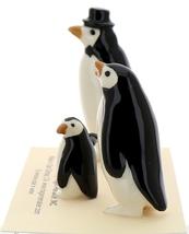 Hagen-Renaker Miniature Ceramic Bird Figurine Penguin Family Set image 2