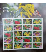 New! PROTECT POLLINATORS 2016 (USPS) STAMP SHEET 20 FOREVER STAMPS - $13.95