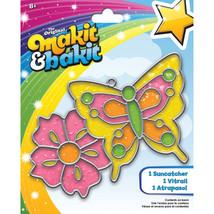 Makit & Bakit Suncatcher Kit-Butterfly & Flower (Pack of 6) - $46.92
