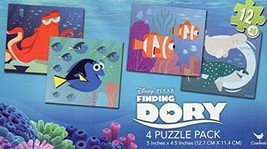 Disney Finding Dory - 4 Puzzle Pack - 12 Piece Jigsaw Puzzle Set of 4 Different - $9.89