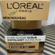 L'Oreal Paris Smoothes & Nourishes 3 Fine Sugars Scrub For Face & Lips 50ml - $11.39
