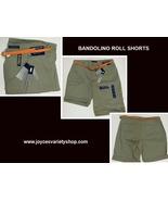 Bandolino Michele Roll Shorts Desert Green Sz 8 Chino Stretch - $14.99