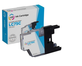 LD Brother Compatible LC75 High Yield Ink Cartridge Cyan LC75C, New, Sealed - $9.50