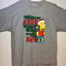 Deadstock Bart Simpson Christmas XL T-Shirt Delta Pro 2004 - $17.81
