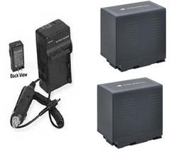 Two 2 Batteries + Charger For Panasonic AG-AC90P AG-AC90PJ AG-AC90PX AG-AC90EJ - $64.73