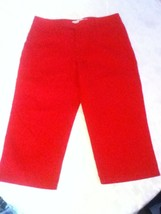 Ladies/women-Size 4-Tommy Hilfiger- Capri jeans-red - $10.99