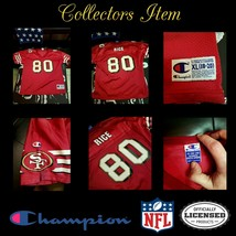 *RARE*Jerry Rice #80 San Francisco 49ers NFL Champion Jersey YouthXL Col... - $125.29