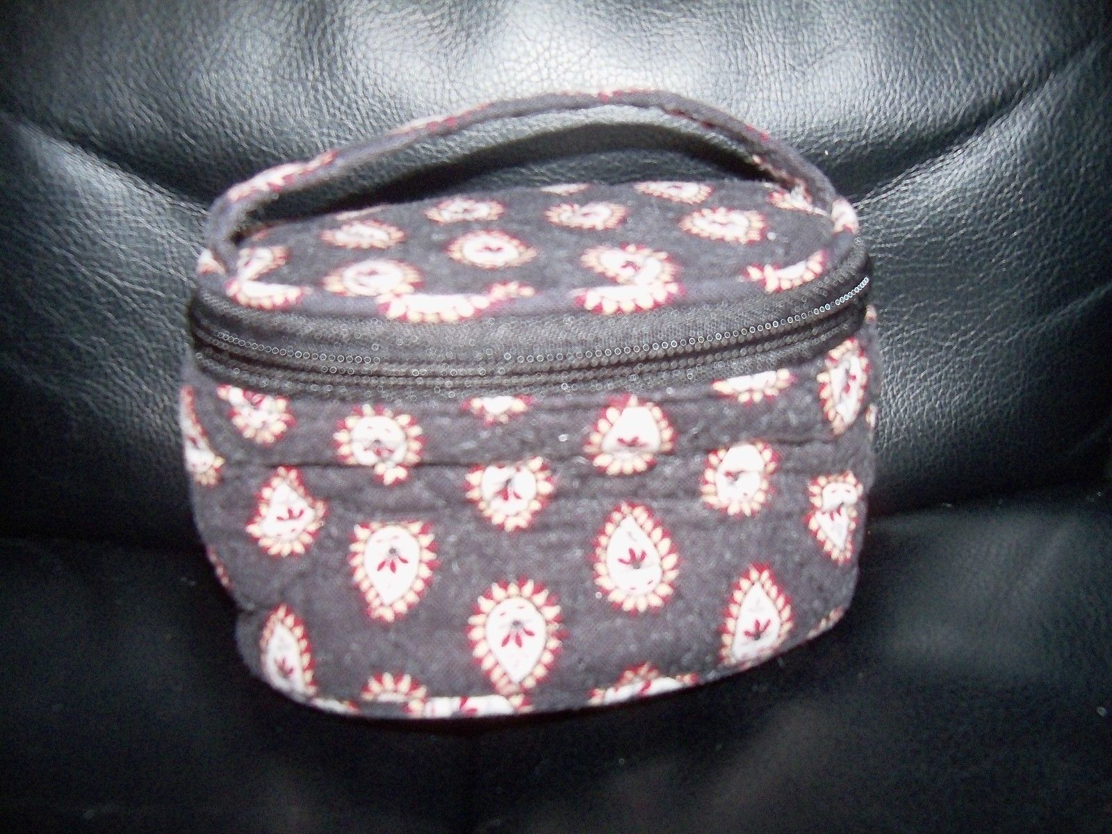 Primary image for Vera Bradley Jewelry Pouch in Classic Black EUC