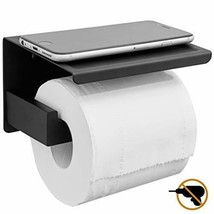 HITSLAM Matte Black Toilet Paper Holder Adhesive, 3M - $25.64