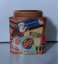 Hershey's Chocolate 1995 Vintage Edition #3 Tin Can Canister Storage Con... - $4.99