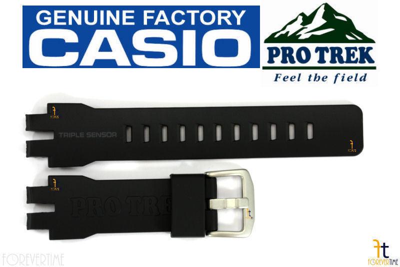 CASIO Pathfinder Protrek PRW-6000 Original Black Rubber Watch Band Strap
