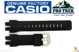 CASIO Pathfinder Protrek PRW-6000 Original Black Rubber Watch Band Strap - $59.95