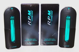 PAIR OF AVON RPM INTENSE MEN'S 2.5 FL OZ/75 ML EAU DE TOILETTE SPRAYS IN... - $79.19