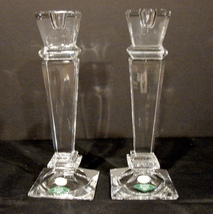 """Shannon Crystal 10"""" Candle Stick Holders (Set of 2),  image 1"""