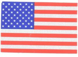 "REFLECTIVE AMERICAN FLAG VINYL DECAL - 3"" x 4"" HIGHLY REFLECTIVE U.S. FL... - $6.92"