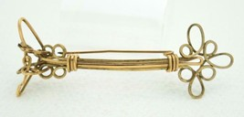 Antique Victorian Gold Filled Arrow Filigree Bar Pin - $29.70