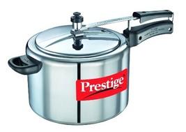 Prestige Nakshatra Pressure Cooker, 10 Liters, Silver - $129.00