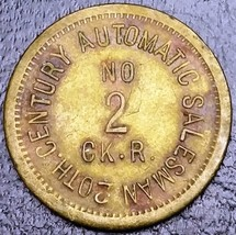 20th Century Automatic Salesman No 2 CK. R. Merchant Token - FREE COMBIN... - $5.75