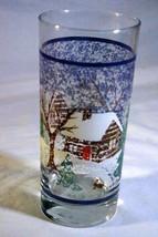 Libbey Glass 1980 Winter Cabin Christmas Tumbler 12 oz. - $7.19