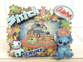 Disney Stitch And Scrump Photo Frame Figure Model. Sleep Theme. Rare Item - $26.00