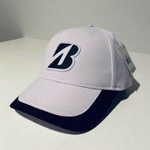 Bridgestone Tour Cap Rubber B Hat (White, Adjustable) NEW - $12.19