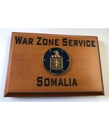 Central Intelligence Agency War Zone Service Somalia Beveled Edge Wall P... - $49.49