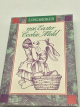 Longaberger 1996 Pottery Easter Cookie Mold Bunny Coloring Egg  - $12.99
