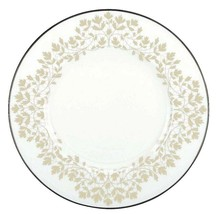 "Lenox Nature's Vows Accent Luncheon Plate 9.25"" Platinum Floral Border New - $28.90"