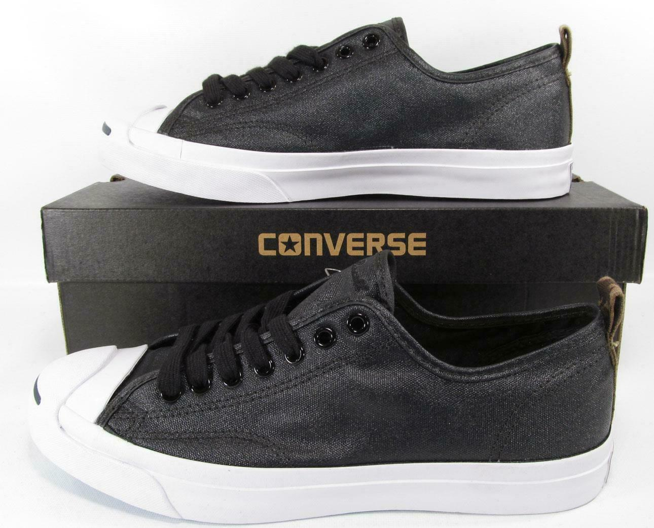 Primary image for Converse Jack Purcell JP JACK OX Nylon BLACK Lunarlon Sole 151483C (8.5 MENS)
