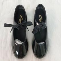 Capezio Dance Tap Shoe 7W Womens Black Patent Leather New 7 W J0 65 - $19.99