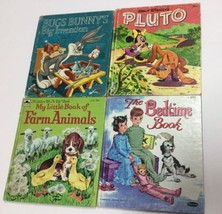 Whitman & Tell A Tale Vintage Children's Books Lot Of 4 Pluto Bugs Bunny - $14.84