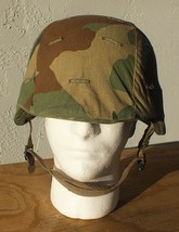 U.S. MILITARY PASGT COMBAT HELMET MADE WITH KEVLAR SIZE MED M-2 EXCELLENT - $60.43
