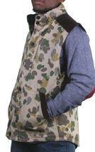 Crooks & Castles Mens Tan Duck Camo Firing Squad Outerwear Cotton Vest NWT image 3