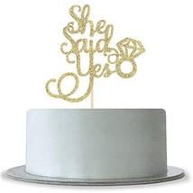 Gold Glitter She Said Yes Cake Topper, Bridal Shower,Mr&Mrs Wedding Engagement B