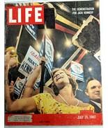 LIFE Magazine VTG July 25 1960 RARE Sample Copy JFK Castro Plane Crash C... - $26.61