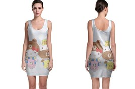 Hello Kitty And Brown Scooter Bodycon Dress - $22.99+