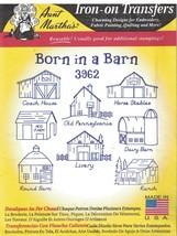 Aunt Martha Embroidery Hot Iron Transfer Pattern 3962 Born in a Barn Liv... - $6.92
