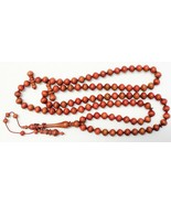 Islamic Prayer Beads 99 Tesbih Pink Royal Zulu Wood - UNIQUE - Museum Qu... - $2,364.12