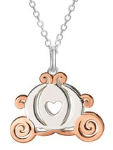 """Disney Cinderella Sterling Silver & 14kt Gold Plated Carriage Pendant, 16"""" + 2"""" - $32.99"""