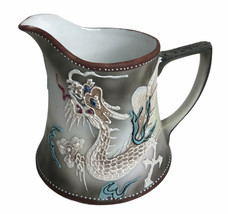 "Takito Moriage Dragonware Creamer 4"" porcelain Cream Pitcher Japan Creamer - $14.50"