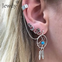 Jewdy® 4 Pcs/Lot Brincos Femme Bohemian Dreamcatcher Stud Earring Set Boho - $3.06