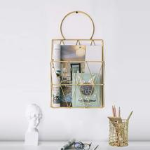 File Organizer with Pencil Cup Gold Wire Metal Document Storage Holder M... - $20.00