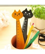 Black Cat Wood Ruler cross stitch accessory   - $4.00
