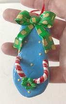 Flip Flop Ornament Christmas Pineapple Polymer Resin Handmade Hawaiian C... - $15.51