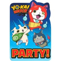 YoKai Watch 8 ct Postcard Invitations Yo-Kai Birthday Party - $5.88
