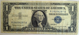 1957 United States $1 Silver Certificate #S428 - $9.95
